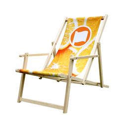 Strandstoel met leuning